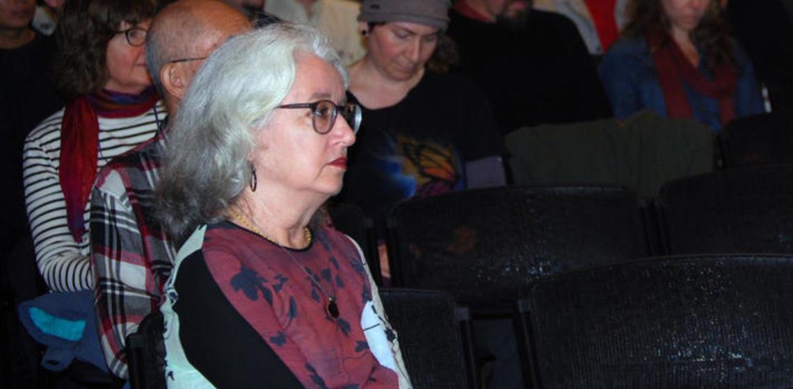 Janet Gyatso, Harvard University, sits in the audience