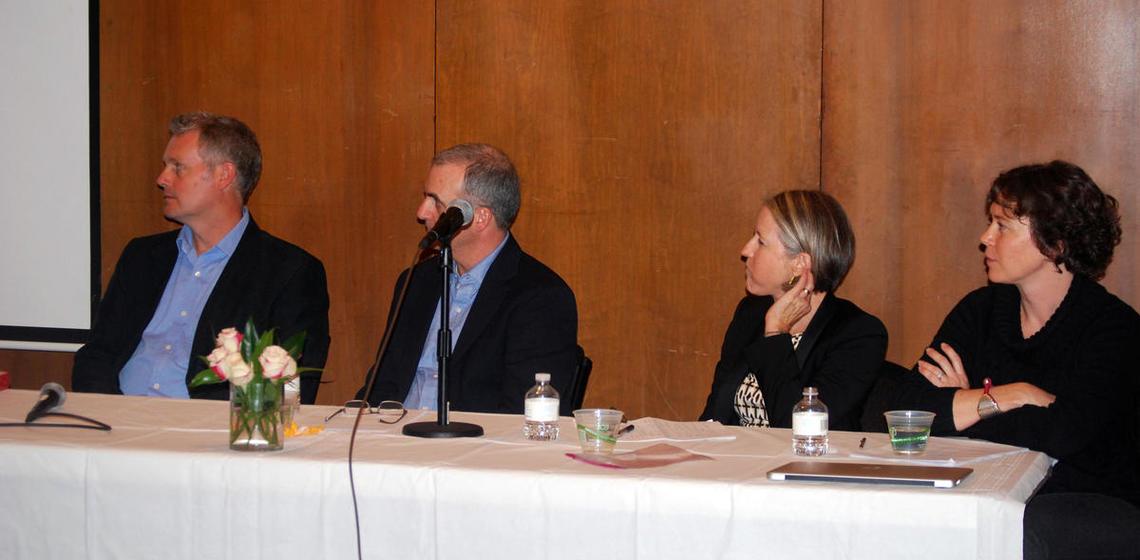 Panel L-R J. Dalton UCB, E. Thompson Univ. of British Columbia, V. Adams UCSF, and S. Van Vleet UCB